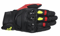 Celer_leather_glove_black_red_yellow_fluo_6