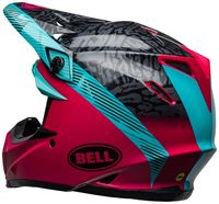 Bell-moto-9-mips-dirt-helmet-chief-matte-gloss-black-pink-blue-back-left
