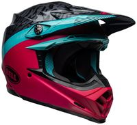 Bell-moto-9-mips-dirt-helmet-chief-matte-gloss-black-pink-blue-front-right
