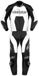 Carver_lth_suit_2pc_blk_wht_fr