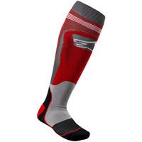 Mx-plus-1-sock-red-gray