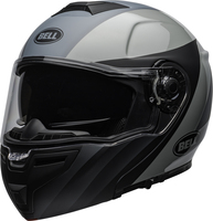 Bell-srt-modular-street-helmet-presence-matte-gloss-black-gray-clear-shield-front-left