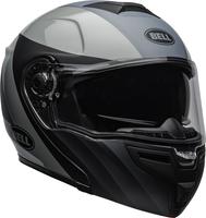 Bell-srt-modular-street-helmet-presence-matte-gloss-black-gray-clear-shield-front-right