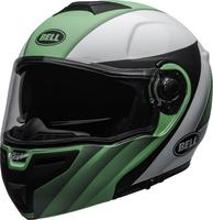 Bell-srt-modular-street-helmet-presence-matte-gloss-green-white-black-clear-shield-front-left