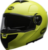 Bell-srt-modular-street-helmet-transmit-gloss-hi-viz-clear-shield-front-left