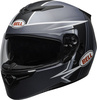 Bell-rs-2-street-helmet-swift-matte-gray-black-white-clear-shield-front-left