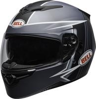 Bell-rs-2-street-helmet-swift-matte-gray-black-white-clear-shield-front-left