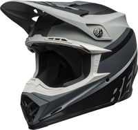 Bell-moto-9-mips-dirt-helmet-prophecy-matte-gray-black-white-front-left