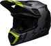 Bell-mx-9-mips-dirt-helmet-strike-matte-gray-black-hi-viz-front-left