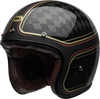 Bell-custom-500-carbon-culture-helmet-rsd-checkmate-matte-gloss-black-gold-front-left