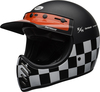 Bell-moto-3-culture-helmet-fasthouse-checkers-matte-gloss-black-white-red-front-left