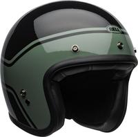 Bell-custom-500-culture-helmet-streak-gloss-black-green-front-right