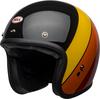 Bell-custom-500-culture-helmet-riff-gloss-black-yellow-orange-red-front-left