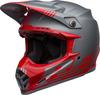 Bell-moto-9-flex-dirt-helmet-louver-matte-gray-red-front-left