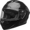 Bell-star-dlx-mips-street-helmet-lux-checkers-matte-gloss-black-root-beer-front-left-clear-shield