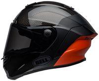 Bell-race-star-flex-street-helmet-carbon-lux-matte-gloss-black-orange-left