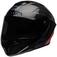 Bell-race-star-flex-street-helmet-carbon-lux-matte-gloss-black-orange-front-left