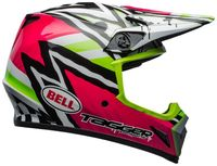 Bell-mx-9-mips-dirt-helmet-tagger-asymmetric-gloss-pink-green-right