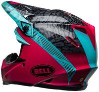 Bell-moto-9-mips-dirt-helmet-chief-matte-gloss-black-pink-blue-back-left