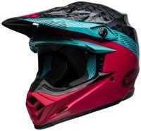 Bell-moto-9-mips-dirt-helmet-chief-matte-gloss-black-pink-blue-front-left
