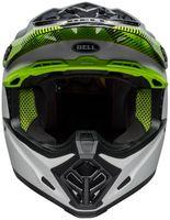 Bell-moto-9-mips-dirt-helmet-chief-matte-gloss-black-white-green-front